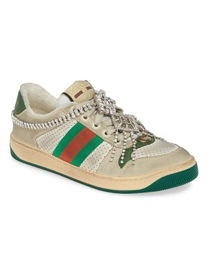 Gucci screener jeweled low top sneaker