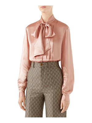 Gucci silk tie-neck blouse