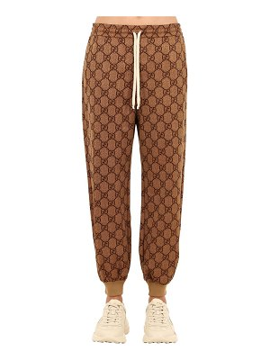 Gucci Slim fit gg supreme cotton jersey pants