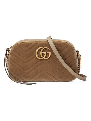 Gucci small gg marmont 2.0 matelasse velvet shoulder bag