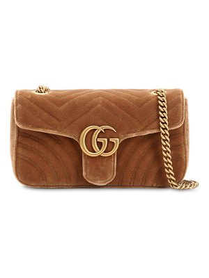 Gucci Small gg marmont 2.0 velvet shoulder bag