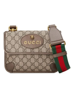 Gucci small gg supreme canvas messenger bag