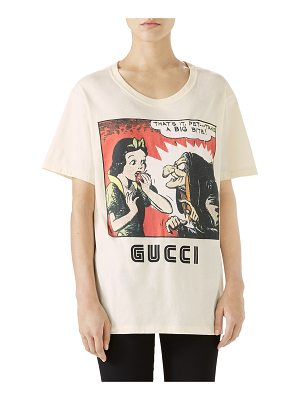 GUCCI Snow White & Witch Print Short-Sleeve Cotton T-Shirt