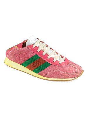 Gucci suede web sneakers