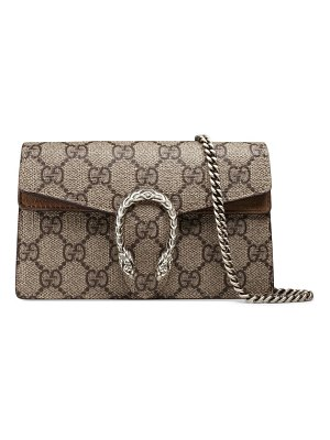 Gucci super mini dionysus gg supreme canvas & suede shoulder bag