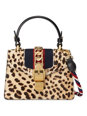 Gucci Sylvie Mini Calf-Hair Satchel Bag