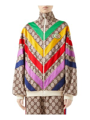 Gucci technical jersey gg rainbow track jacket