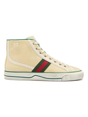 Gucci tennis 1977 web-stripe canvas high-top trainers