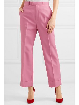 Gucci twill straight-leg pants