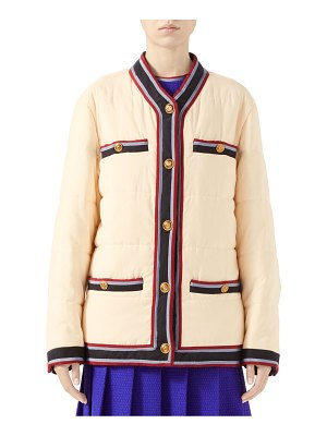 Gucci washed puffer jacket