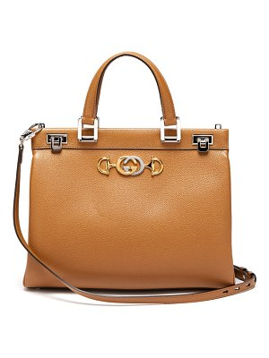 Gucci zumi medium top handle leather bag