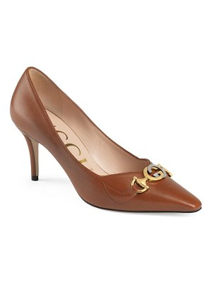 Gucci zumi square toe pump