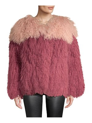 H Brand andie two-tone shearling jacket