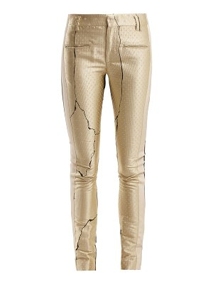 Haider Ackermann Mid Rise Jacquard And Leather Trousers