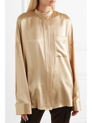 Haider Ackermann oversized silk-charmeuse shirt