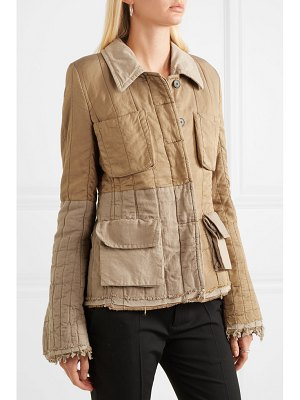 Haider Ackermann quilted cotton-blend jacket