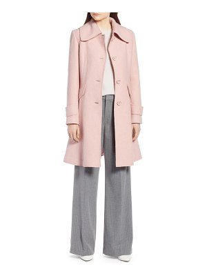 Halogen halogen boiled wool blend fit & flare coat