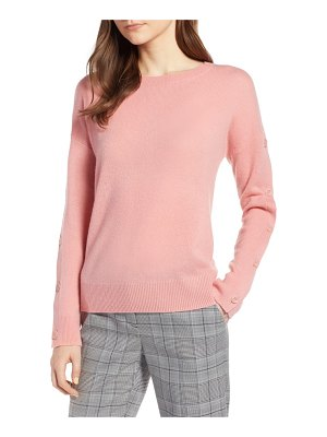 Halogen halogen cashmere button sleeve sweater