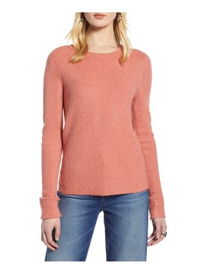 Halogen halogen cuffed sleeve sweater