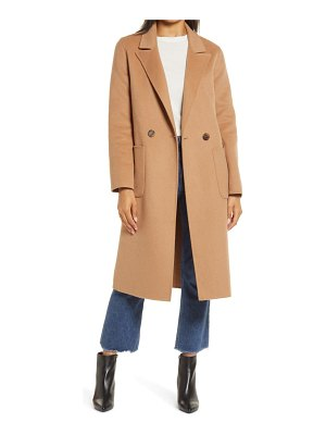 Halogen halogen double face wool coat