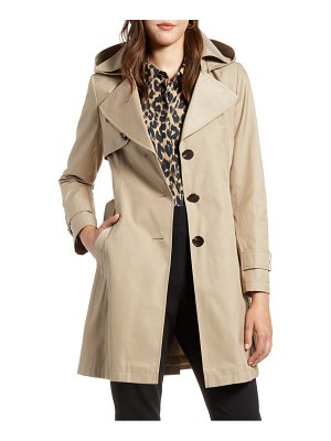 Halogen halogen hooded trench coat