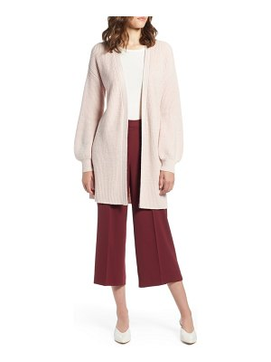Halogen halogen long blouson sleeve cardigan