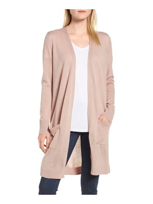 Halogen halogen long open cardigan