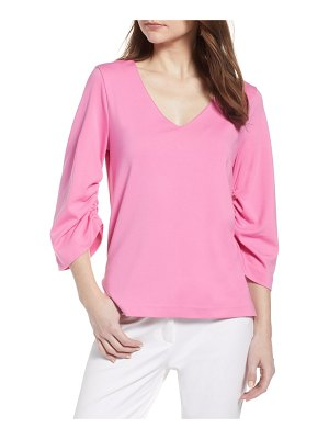 Halogen halogen ruched sleeve top