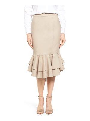 HALOGEN Halogen Ruffle Hem Pencil Skirt