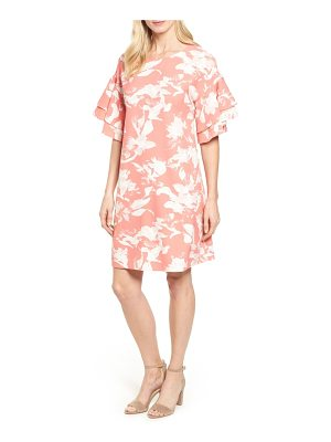 Halogen halogen ruffle sleeve shift dress