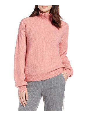Halogen halogen ruffle neck sweater