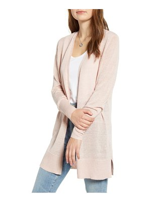 Halogen halogen side slit cardigan