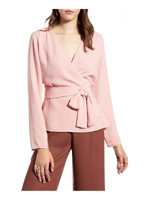 Halogen halogen tie detail wrap blouse
