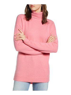 Halogen halogen turtleneck wool blend tunic sweater