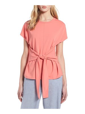 Halogen halogen wrap detail stretch knit top