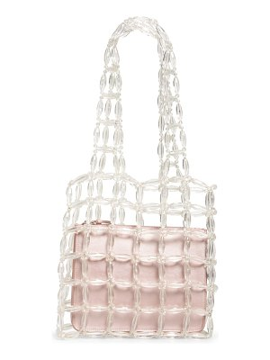 Halogen halogen x atlantic-pacific clear beaded tote
