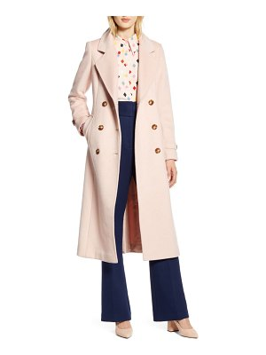 Halogen halogen x atlantic-pacific long wool blend trench coat