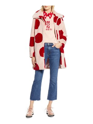 Halogen halogen x atlantic-pacific polka dot faux fur coat