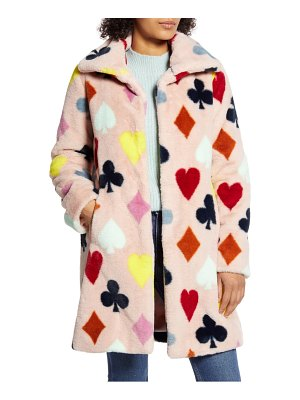 Halogen halogen x atlantic-pacific print faux fur coat