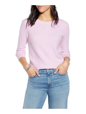 Halogen halogen x atlantic-pacific three quarter sleeve sweater