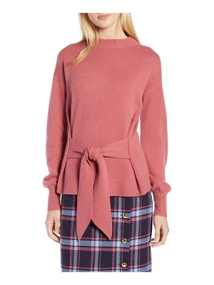 Halogen halogen x atlantic-pacific wool and cashmere blend tie sweater