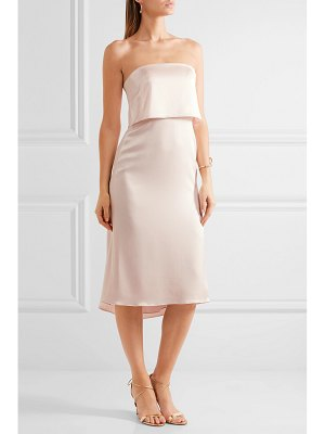 Halston layered satin dress