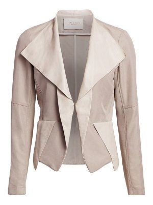 Halston long sleeve fitted patched jacket