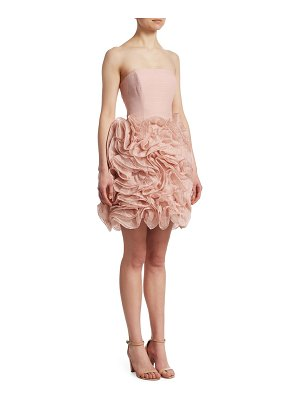 Halston strapless ruffle dress