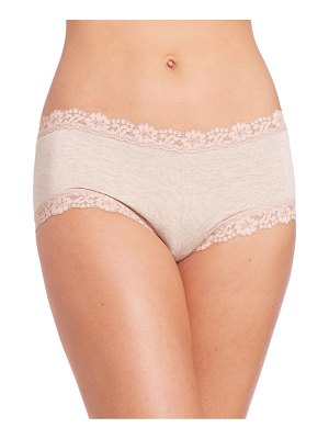 Hanky Panky heather mid-rise boyshorts