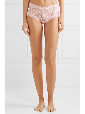 Hanky Panky signature set of three stretch-lace boy shorts