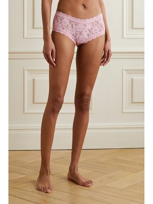 Hanky Panky signature set of two stretch-lace boy shorts