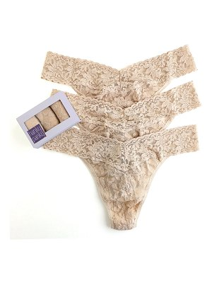 Hanky Panky Three-Pack Original-Rise Signature Lace Thong