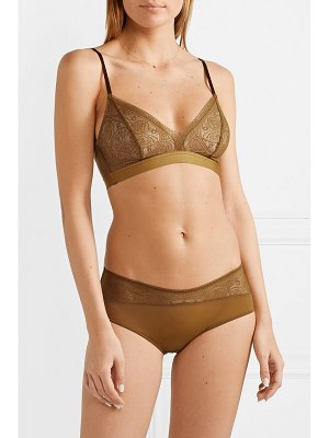 Hanro moa lace and stretch-tulle briefs