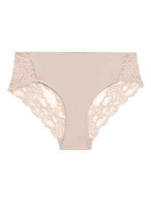 Hanro zula lace-trim midi briefs